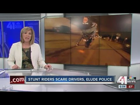 Bike VS Cops Stunt Riders Scare Drivers Elude Police Report On Blox Starz 41 Action News KCMO 2016
