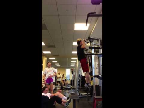 20 pulls ups at Columbia Country Club Gym