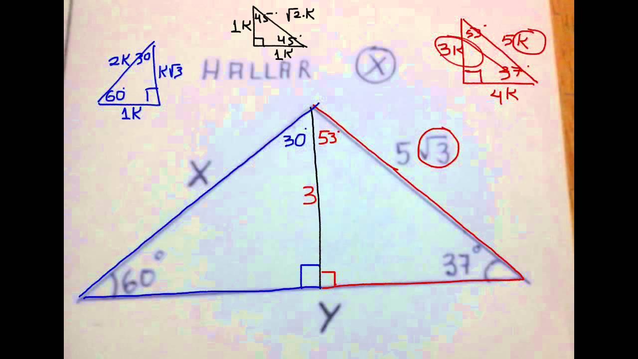 Problemas de Tri ngulos Rect ngulos Notables para 3 de Secundaria