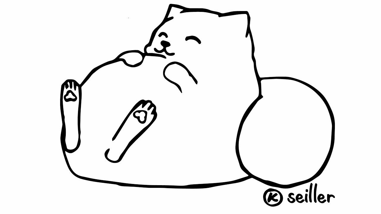 katze comic zeichnen  ausmalbilder
