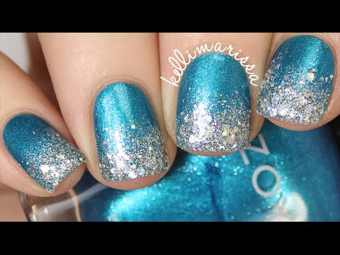 DIY Elegant Sparkly Winter Nail Art