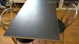 Обеденный СТОЛ ИЗ КЕРАМОГРАНИТА и фанеры/ Как сделать мебель своими руками