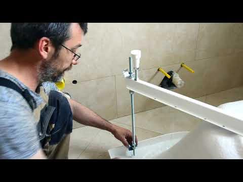 Установка ванны своими руками пошаговая инструкция видео