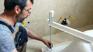 Установка угловой акриловой ванны своими руками. Пошаговое видео