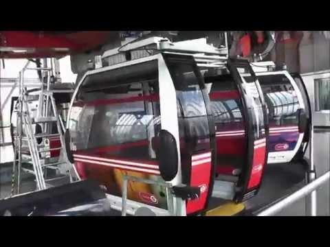 Londres: Teleférico sobre o Tamisa / London: Royal Docks Cable Car