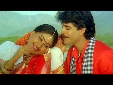 Janaki Ramudu Songs - Chilaka Pachha Thotalo - Nagarjuna - Vijaya Shanthi