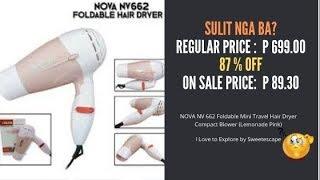 NOVA NV662 Foldable Mini Travel Hair Dryer Compact Blower - Review