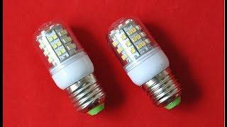 Мои покупки AliExpress № 23 (светодиодные лампы 7w 60 Leds)(Светодиодные лампы 7w 60 Leds куплены здесь: http://goo.gl/cngxvX Светодиодная лампа *кукурузка* куплена здесь: http://goo.gl/5Noc..., 2014-02-03T18:35:29.000Z)