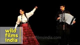 Musical concert by Russian folk group in India