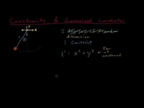 Constraints and generalized coordinates