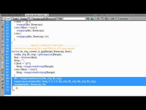 08. PHP Image Convert Function Tutorial Upload Type jpg gif png On the Fly