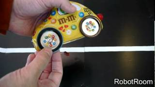 Yummy M&m's Candy Tin Robot