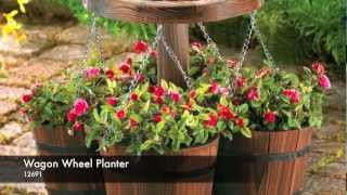 12691 - Wagon Wheel Planter