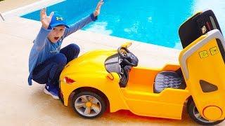 El carro de juguete de Ali escapó al supermercado