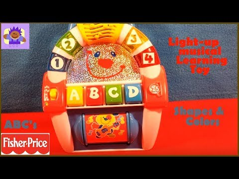 2000 Mattel Fisher-Price letters, shapes and numbers musical jukebox radio learning toy