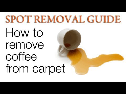 how to clean a bad coffee stains in carpet