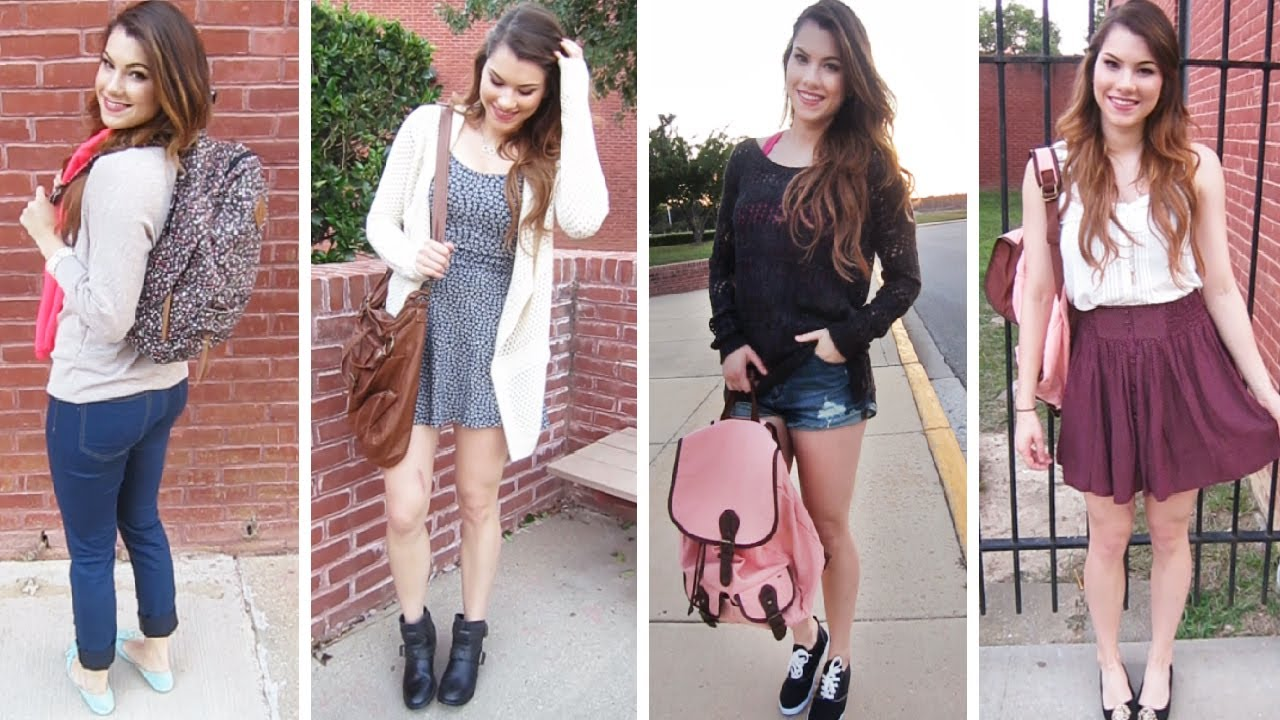 4 Cute Back To School Outfit Ideas Shopping With Me Youtube