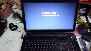format Install windows 7  Toshiba L50 boot