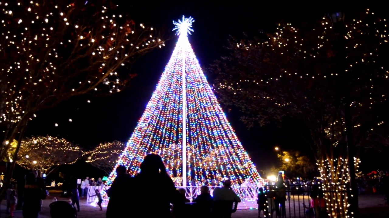 christmas tree lighting park circle n charleston sc