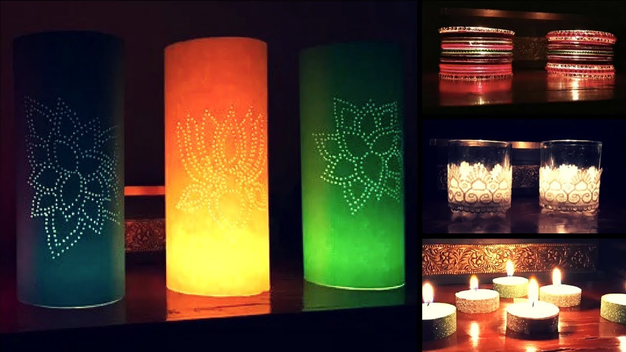 5 ideas to decorate diya for diwali diy ideas for diwali for Diya decoration youtube