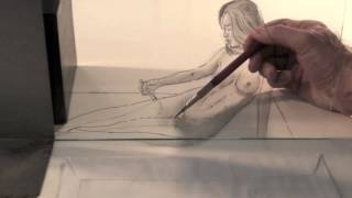 How to Draw a Pencil 3D Illusion: Female Figure- Fine Art-Tips.