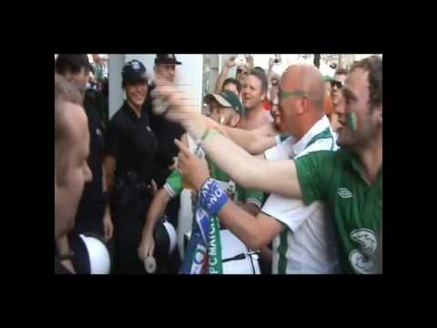 WHEN IRISH FANS HAVE A FEW DRINKS AT THE EUROS AND THE POLICE ARRIVE