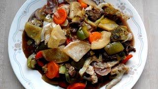 চাইনিজ ভেজিটেবল রান্না - Chinese Vegetable Rannar Video - রান্নার ভিডিও - ব্যাচেলরদের সব্রজি রান্না
