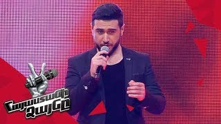 Alexander Sargsyan sings 'Rise Like a  Phoenix' - Blind Auditions - The Voice of Armenia - Season 4