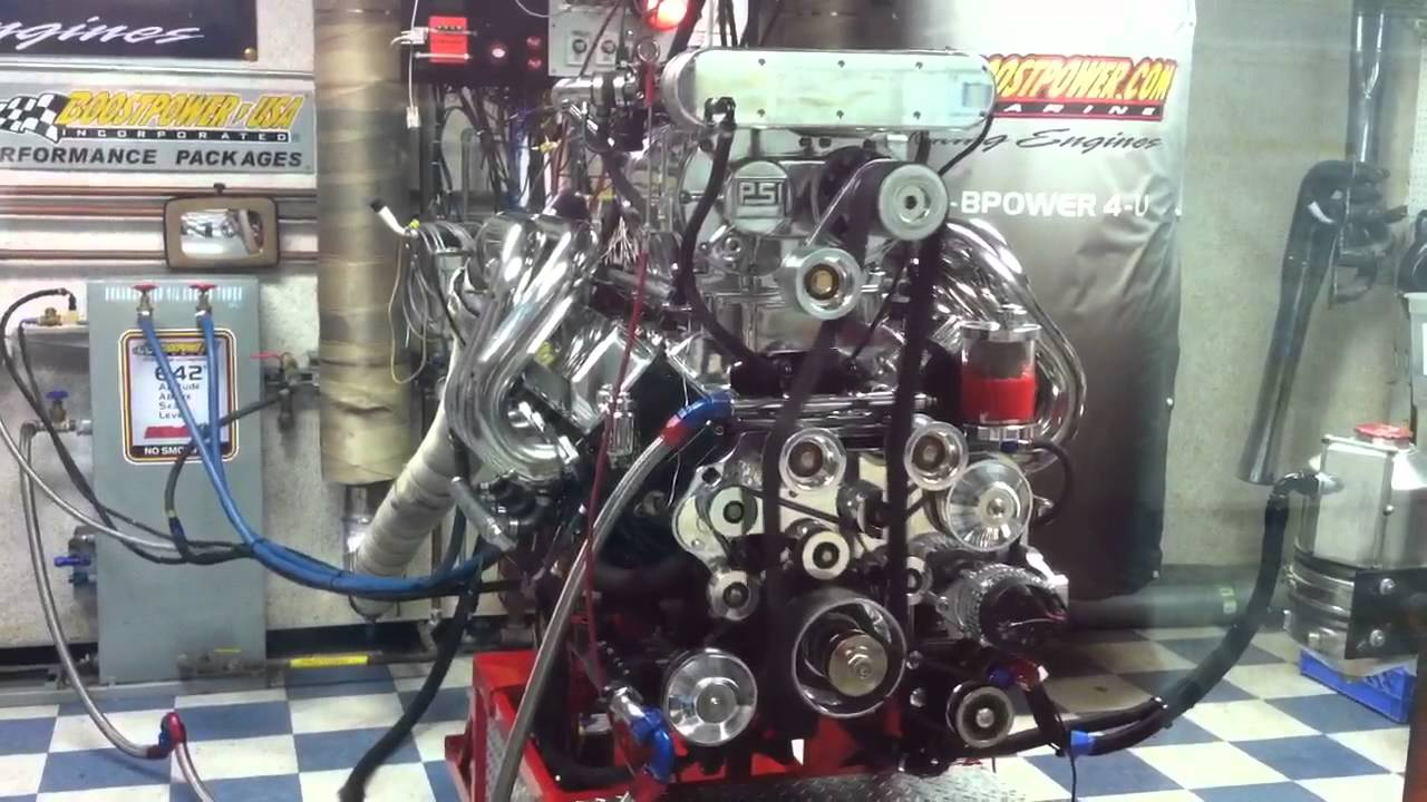 Boostpower Usa Marine 800 Cubic Inch Engine On The Dyno Youtube