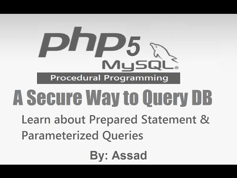 PHP Prepared Statement \u0026 Parameterized Query MySQL English