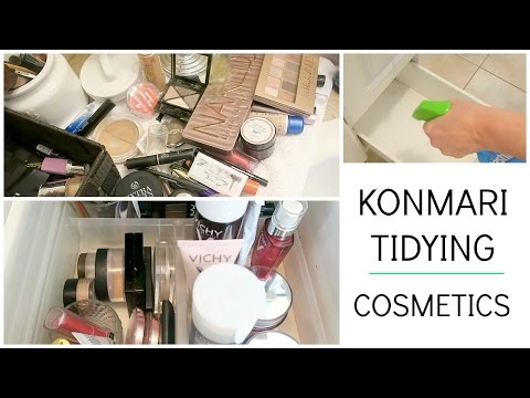 KonMari Tidying | Cleaning & Decluttering Cosmetics