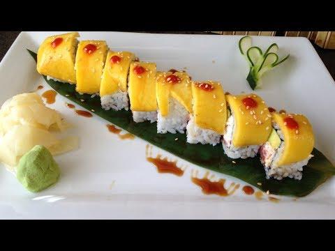 Sushi Rollo Especial Con Mango [Receta] - YouTube