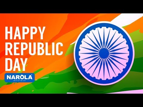 Republic day wishes by Narola infotech offshore software development company.
