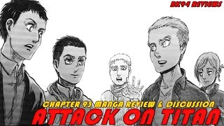 Reiner's struggle! | attack on titan chapter 93 manga review & discussion | death of ymir!