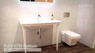 Saneux   Uk - Plaza 100cm Basin & Matching Wall-hung Wc