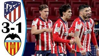 Атлетико Мадрид Валенсия 3 1 Обзор Матча Чемпионата Испании 24 01 2021 HD