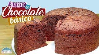 Bizcocho de chocolate básico - Jugoso, esponjoso y delicioso - Recetas paso a paso, tutorial