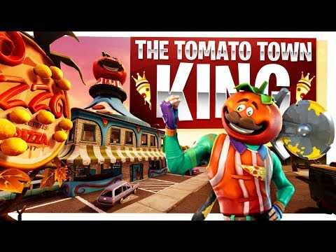 The King of Tomato Town - New Tomatohead Skin - Fortnite Battle Royale Gameplay