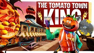 The King of Tomato Town - New Tomatohead Skin - Fortnite Battle Royale Gameplay