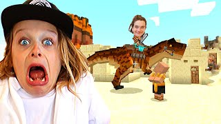 LAST TO LEAVE DINO LAND in Minecraft Gaming w/ The Norris Nuts
