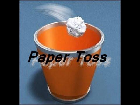 Paper Toss : Le champion du papier poubelle !