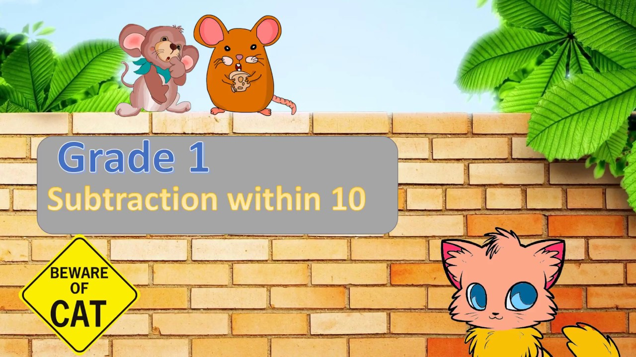 Grade 1 (Primary 1) - Subtraction within 10 Math Worksheets - YouTube [ 720 x 1280 Pixel ]