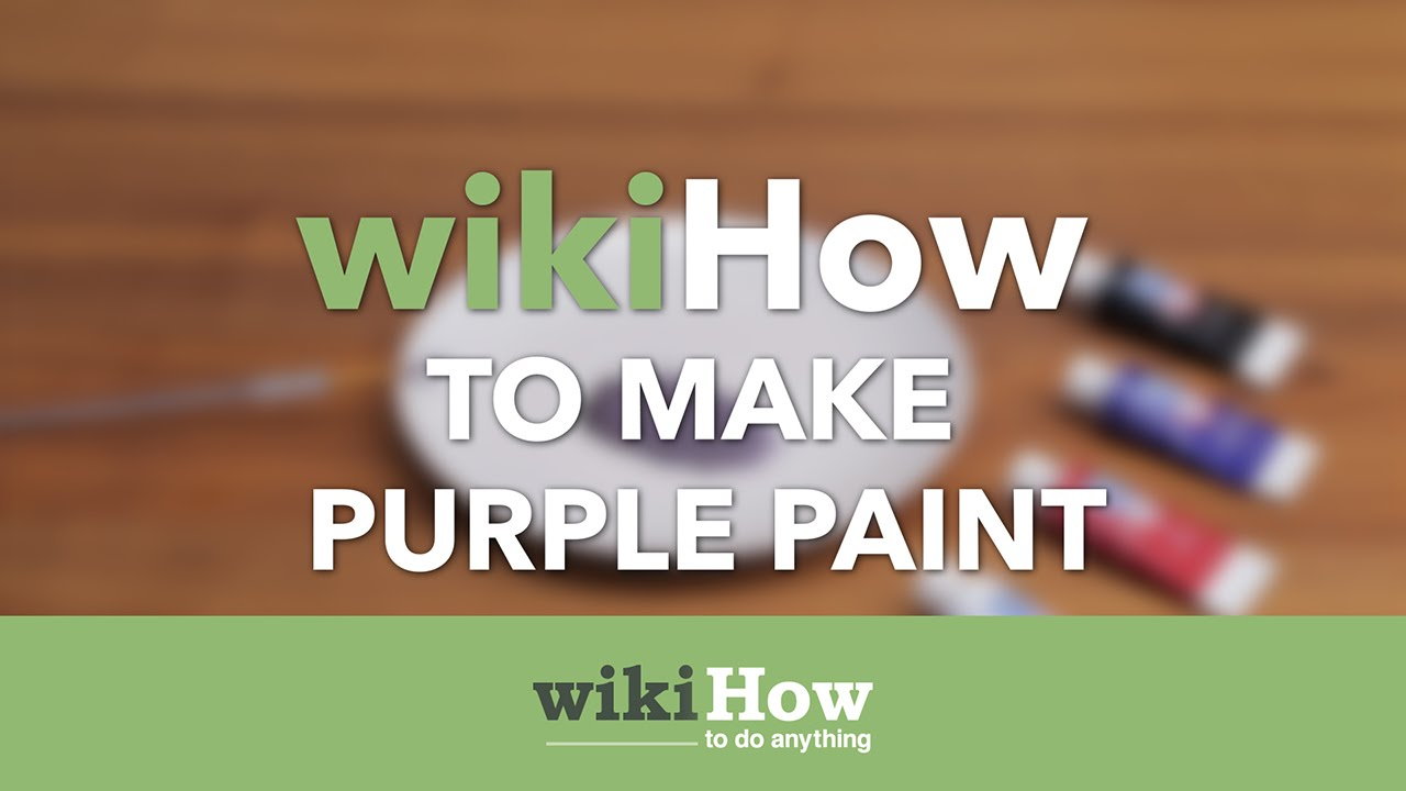 how to make purple paint youtube. Black Bedroom Furniture Sets. Home Design Ideas