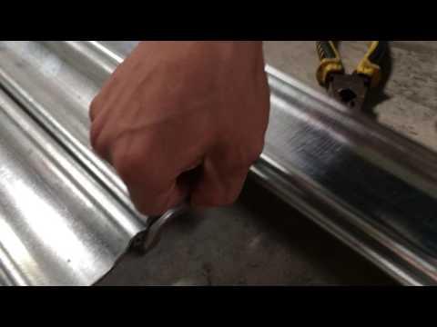 how to assemble galvanized steel roller shutter door curtain