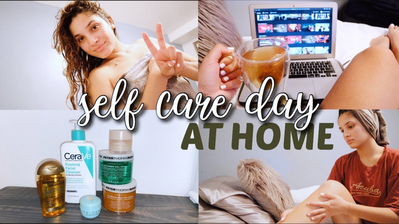 self care day at home (pamper routine) | morning meditation, nails, brows, hair & relaxation