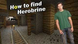 How to find HEROBRINE | MInecraft PE thumbnail