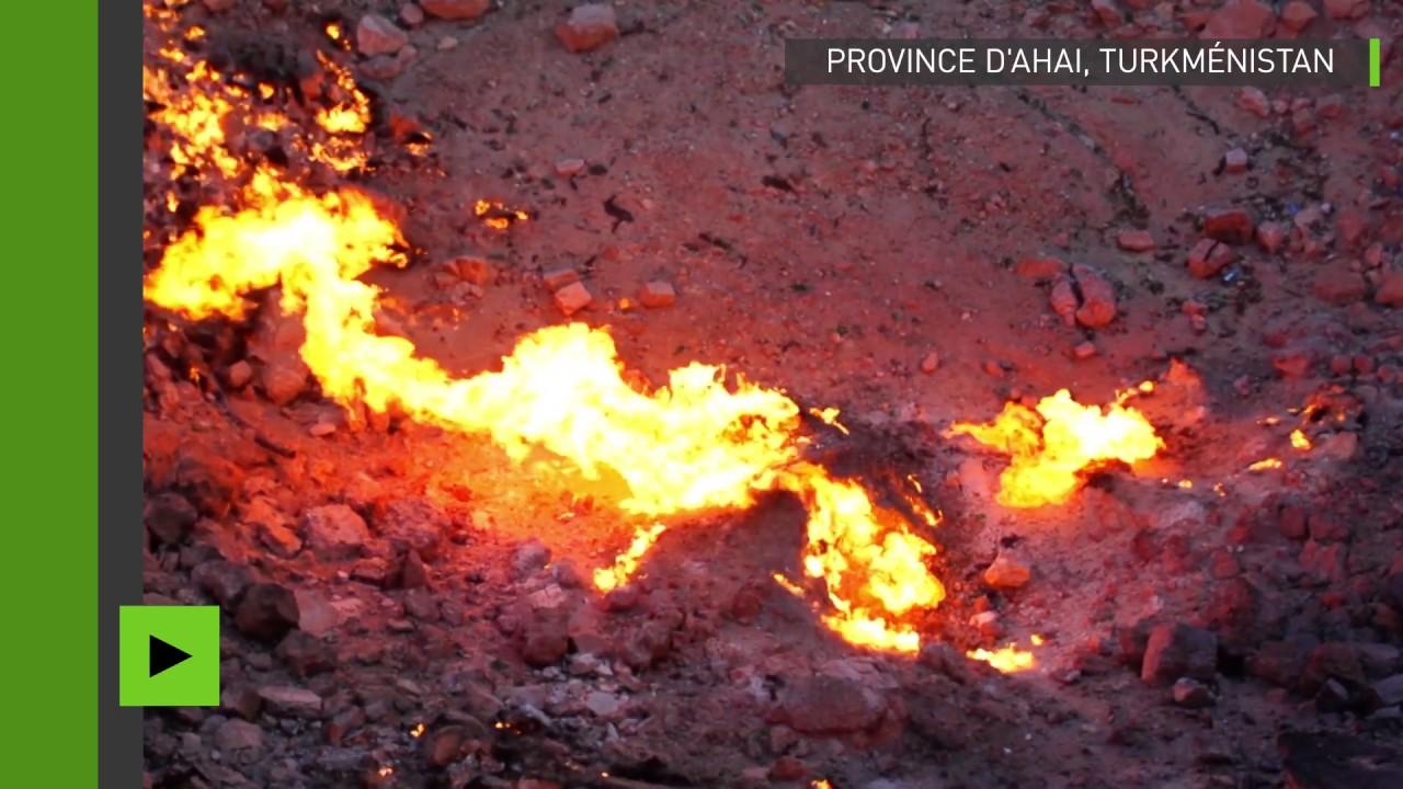 Le crat re porte de l enfer film par un drone au turkm nistan youtube - Turkmenistan porte de l enfer ...