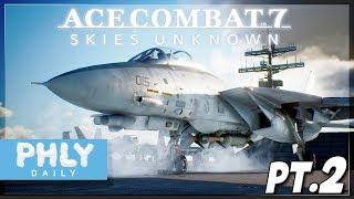 Ace Combat 7   F-14 CARRIER SCRAMBLE   Mission 3-5 (AC7 PT.2)