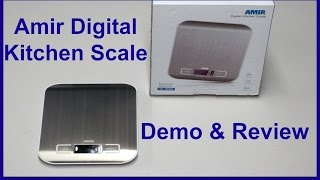 Amir Digital Kitchen Scale - Review & Demo!