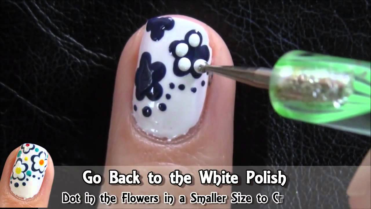 Easy Nail Art Designs With Dotting Tool